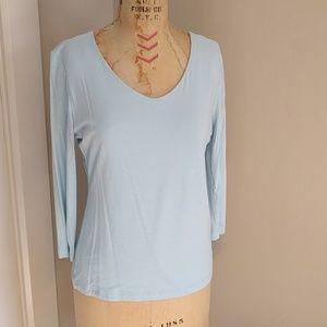 CAbi 3/4 sleeve v neck stretch top